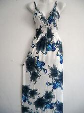 Women Long Maxi summer beach party hawaiian  evening sundress dress petites S #2