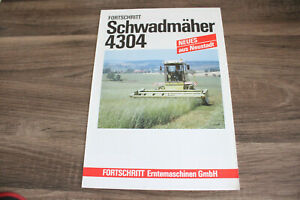Original DDR VEB Fortschritt Schwadmäher 4304 Prospekt Broschüre RAR