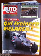 AUTO HEBDO du 1/04/1998; GP Brésil/ Essai Megaphone Renault/ McRae/ Astra 2.0