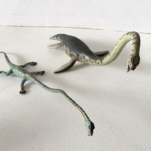 Lot Of 2 Carnegie Safari Elasmosaurus &  Tanystropheus Dinosaur Toy Figures Rare