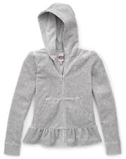Juicy couture Girls silver lining Ruffle Hem Hoodie size L 8-10
