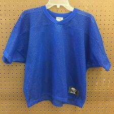 NWT Boys BIKE Youth Athletic Football Short Sleeve Navy Blue Jersey Size L / XL