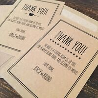Personalised Moved / Moving House Thank You Cards, Colour Choice, Rustic Vintage