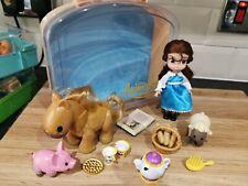 Disney Store Animators Collection Belle Beauty & Beast Mini Doll Playset & Case