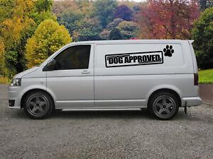 Huge Dog Approved Van Vinyl Sticker Decal x 2
