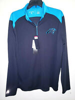 Mens Antigua 1/4 Zip Pullover Long Sleeve Shirt Carolina Panthers New Size L $80