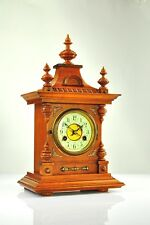 Antique German Junghans Mantel Clock with Brass Black Forest approx.1910