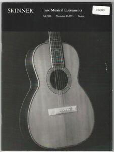 Skinner Fine Musical Instruments Auction Catalog: November 20, 1994