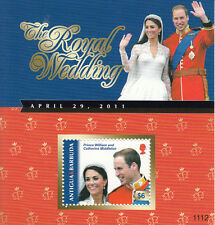 Antigua & Barbuda 2011 MNH Royal Wedding 1v S/S Prince William Kate Stamps