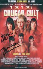 BRINKE STEVENS Signed 8x6 Flyer COUGAR CULT COA