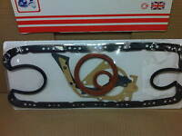 FORD ESCORT 1.4 1.6 CVH BOTTOM END RUBBER SUMP GASKET SET INC CRANK OIL SEALS
