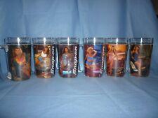 Vtg Snap On Tools Tool Mates Collection Acrylic Beer Mugs 1993 W Box Pinup Girl