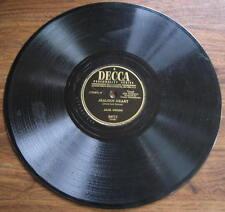 """Jack Owens - 78 rpm - """"Jealous Heart"""" / """"Dime A Dozen"""" - Decca 24711 - VG-"""
