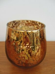 Gold Glass candle Holder Tea Light Holder Beautiful Glass CANDLE HOLDER Bronze