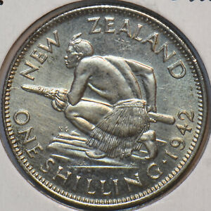 New Zealand 1942 Shilling 294615 combine shipping