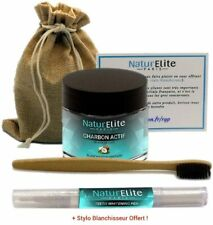NaturElite Poudre de charbon actif noix de coco 100% Naturel Blanchiment de dent