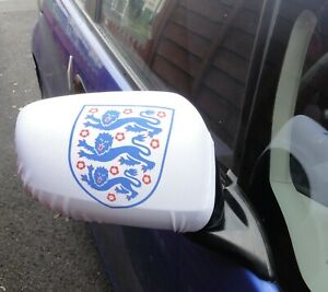 Official England FA Football Team Badge Wing Mirror Covers Wing Gloves 1 pair