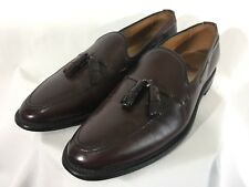 Mens Allen Edmonds Grayson Burgundy Leather Loafers Slip On Shoes Size 10 1/2 2A