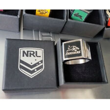 Penrith Panthers NRL Etched Logo Stainless Steel Mens Ring Memorabilia Gifts
