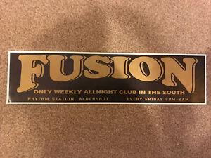 Fusion Rave Flyer Feb 94 Lineup Rhythm Station Aldershot