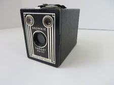 Vtg Eastman Kodak Brownie Target Six-20 Box Camera Art Deco Black USA  #7018