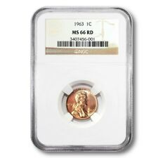 USA Lincoln Memorial Cent 1¢ 1963 P NGC MS-66 RED