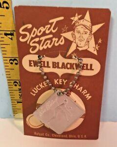 Sports Stars Luckee Key Charm Baseball Ewell Blackwell Ralpat Co. Cleveland NOS