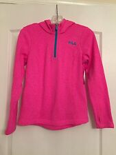 Fila Sport Girls Pullover Hooded Jacket - Pink - Size L(14) - NWT