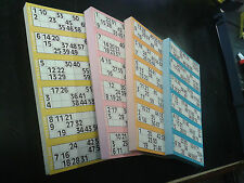 4 BINGO FLYERS PADS  JUMBO BINGO PADS. 3000 Tickets /Games