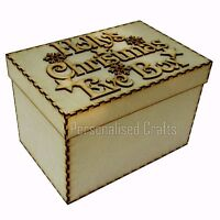 Personalised Children's MDF Christmas Eve Box Xmas Eve Gift Box 20cm High