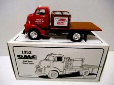 "1995  First Gear '1952 Red GMC  ""Carlos R. Leffler""  Half Rack Stake Truck' 1/34"
