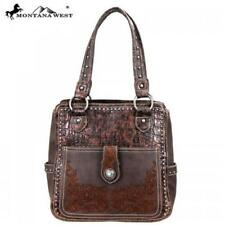"""Stunning """"Montana West"""" Brown Hand Bag Concealed Carry Leather/PU NWT MSRP $144"""