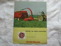 1960 New Holland model 33 crop chopper brochure