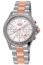 Orient Ladies' WATCH CHRONOGRAPH DATE SAPPHIRE GLASS zirconenlünette ftw00003w0