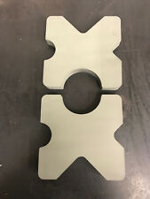"Steel Shop Press bed Plates, H-Frame Arbor  9"" x 9"" x 1"" thick Set"