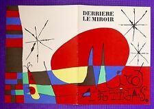 Original Abstract JOAN MIRO COLOR LITHOGRAPH DLM DERRIÈRE LE MIROIR 87-88-89 DLM