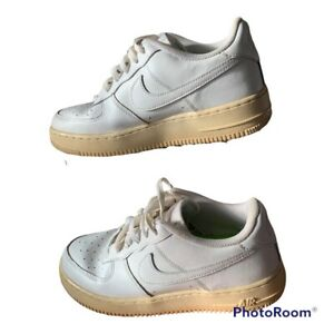 Nike Air Force 1 GS White 314192-117 Youth Size 6.5Y Boys Shoes Sneakers 2014