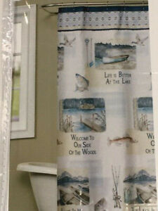SKL Saturday Knight Limited Fabric Shower Curtain - Bass Lake