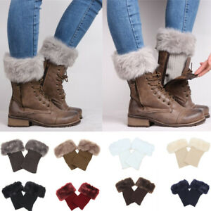 Stretch Lace Boot Cuffs Flower Leg Warmers Lace Trim Toppers Socks Colors Winter