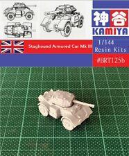 KAMIYA 1//144 WWII British Staghound MKII Armored Car Resin Kit #BRT124B
