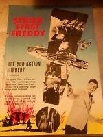 Vecchia pubblicita' CINEMA FILM STRIKE FIRST FREDDY - THE CAST -vintage COLLEZIO