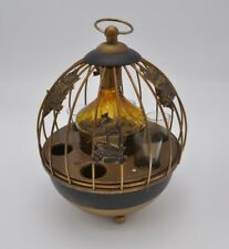 Vtg Musical Decanter Nautical Ship Templar Liquor Shot Glass Holder Music Box