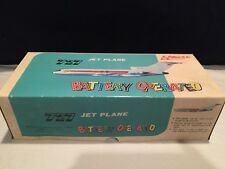 VINTAGE  PLASTIC BOEING 727 TWA JET PLANE  BATTERY OPPERATED