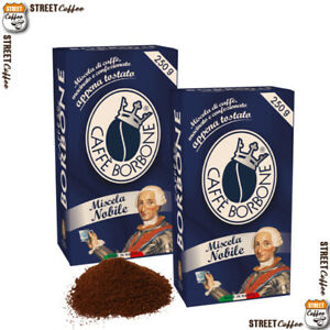4 Confezioni Buste da 250g Caffè Borbone Miscela Blu Macinato Macinata Polvere
