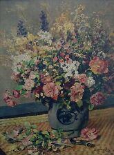 "Pierre-Auguste Renoir  "" VASO di FIORI "" su tela"