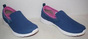 Vionic Eva Indigo Blue Micro Suede Slip On Sneakers Women's Size 9 M EUC