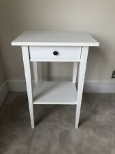 IKEA Hemnes white stain bedside table with drawer and shelf. 2 Of 2.