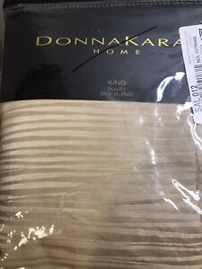 Donna Karan Reflection Gold Dust King Duvet Comforter Cover