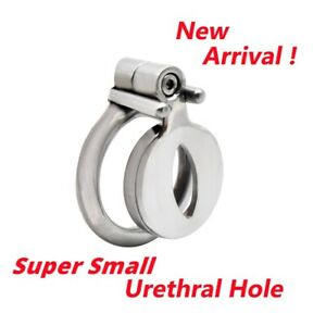 Super Small Steel Male Chastity Cage Enlarged Urethral Hole Design Anti-Off