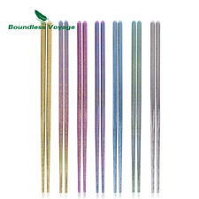 Titanium Square Chopsticks Outdoor Daily Ultralight Multi-Color Cutlery only 15g